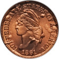 Confederate States of America, Bashlow Restrike Confederate Cent Restrike, Copper MS69 Red NGC....