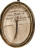 Military & Patriotic:Civil War, Extremely Rare Lock of Abraham Lincoln's Hair Housed in a Beautifully Engraved Gold Locket From the Family of a Lincoln Cabine...