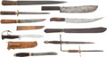 Edged Weapons:Knives, Group Of Ten Miscellaneous Knives and Daggers.... (Total: 10 Items)