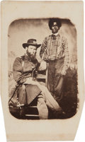 Photography:CDVs, Rare Civil War Carte-De-Visite A Union Officer With His Black Patient....