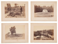 Group of Four Great Brady Album Gallery Views Related To Antietam