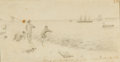 Military & Patriotic:Civil War, Charles F. Allgower, Boys Fishing on Santa Rosa's Island,...