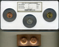 Confederate States of America, Four-Piece (1961) Bashlow Restrike Confederate States of America Cent Lot.... (Total: 4 items)