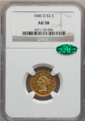 Liberty Quarter Eagles, 1846-O $2 1/2 AU58 NGC. CAC. Variety 2....