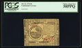 Colonial Notes:Continental Congress Issues, Continental Currency July 22, 1776 $6 PCGS Choice About New 58PPQ.....
