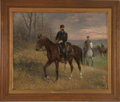 """Military & Patriotic:Civil War, Jan Chelminski, """"General Horace Porter"""", oil on board, 26' x 21.5"""" (sight size), framed in a period frame to an over..."""