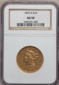 Liberty Eagles, 1872-S $10 AU50 NGC....