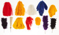 Militaria:Insignia, Large Group Of Feather Plumes for Military Helmets.... (Total: 12 )