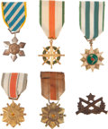 Militaria:Insignia, Group of Five Republic of Vietnam Theater-made Medals andDecorations,... (Total: 6 Items)