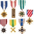 Militaria:Insignia, Group of Seven Republic of Vietnam Medals and Decorations,... (Total: 7 Items)