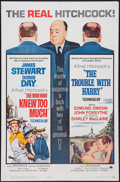 """Movie Posters:Hitchcock, The Man Who Knew Too Much/The Trouble With Harry Combo(Paramount,R-1963). One Sheet (27"""" X 41""""). Hitchcock.. ..."""