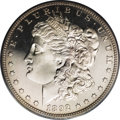 Proof Morgan Dollars: , 1892 $1 PR64 Cameo PCGS. This delightful near-Gem example shows just a tinge of gold on each ...