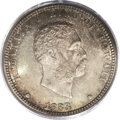 Coins of Hawaii: , 1883 25C Hawaii Quarter MS66 PCGS. Although the mintage shows as aplentiful half-million examples, most of the Hawaiian si...