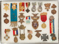 Militaria:Insignia, Group of 21 Grand Army of the Republic Encampment Medals, Ribbons,Badges,...