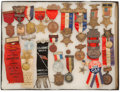Militaria:Insignia, Group of 25 Grand Army of the Republic and Associated Organizations Encampment Medals, Ribbons, Badges,...