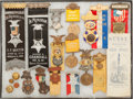 Militaria:Insignia, Group of 20 Grand Army of the Republic Encampment and MemorialMedals, Ribbons, Badges,...