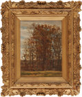 "Military & Patriotic:Civil War, William Trego, ""Bugle Call"" or ""Woodland Scene"", oil on canvas, 9"" x 12"", framed in a period frame t..."