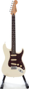 Musical Instruments:Electric Guitars, 1985 Fender Stratocaster Olympic White Solid Body Electric Guitar,Serial # E516730. ...