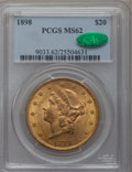 Liberty Double Eagles, 1898 $20 MS62 PCGS. CAC....