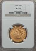 Liberty Eagles, 1899 $10 MS64 NGC....