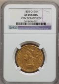 Liberty Eagles, 1855-O $10 -- Obverse Scratched -- NGC Details. XF. Variety 2....