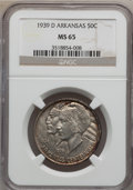 Commemorative Silver: , 1939-D 50C Arkansas MS65 NGC. NGC Census: (145/43). PCGS Population(187/94). Mintage: 2,104. Numismedia Wsl. Price for pro...