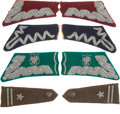 Militaria:Insignia, Group of Polish Collar Tabs and Epaulettes,... (Total: 9 Items)