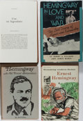 Books:Literature 1900-up, Ernest Hemingway. Group of Four Books. Various, 1962-1989. Onevolume with text in French. Generally very good.... (Total: 4Items)