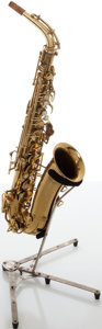 Musical Instruments:Horns & Wind Instruments, 1937 Buescher Aristocrat Brass Alto Saxophone, Serial # 278334.. ...