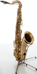 Musical Instruments:Horns & Wind Instruments, Circa 1945 C.G. Conn 10M Naked Lady Brass Tenor Saxophone, Serial # 338764....