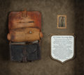 Military & Patriotic:Civil War, Bullet Struck Federal Cartridge Box with Image and Diary....
