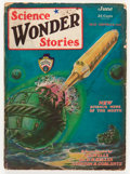 Pulps:Science Fiction, Science Wonder Stories - June '29 (Stellar Publishing, 1929)Condition: VG-....