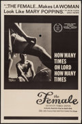"Movie Posters:Sexploitation, The Female: Seventy Times Seven & Others Lot (Cambist Films,1968). One Sheet (4) (27"" X 41""). Sexploitation.. ... (Total: 4Items)"