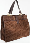 Luxury Accessories:Bags, Bottega Veneta Brown Butterfly Leather and Velour Tote Bag. ...(Total: 2 Items)