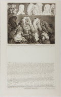 """Books:Prints & Leaves, William Hogarth. Printed Engraving Entitled """"The Bench"""". Hogarth, 4Sep, 1758 (though possibly a bit later). Image size appr..."""