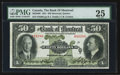 Canadian Currency: , Montreal, PQ- The Bank of Montreal $50 Jan. 2, 1931 Ch # 505-58-08. ...