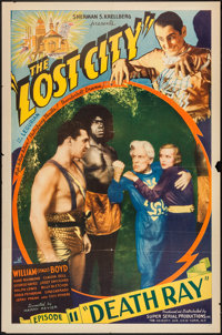"""The Lost City (Super Serial Productions, 1935). One Sheet (27"""" X 41"""") Chapter 11 -- """"Death Ray."""" Ser..."""