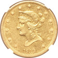 Liberty Eagles, 1839 $10 Type of 1838, Large Letters AU50 NGC....