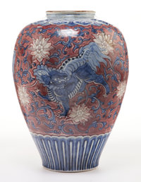 A CHINESE PORCELAIN VASE 20th century 13-1/4 inches high (33.7 cm)