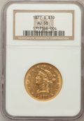 Liberty Eagles: , 1877-S $10 AU58 NGC. NGC Census: (15/2). PCGS Population (4/0).Mintage: 17,000. Numismedia Wsl. Price for problem free NGC...