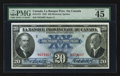 Canadian Currency: , Montreal, PQ- La Banque Provinciale Du Canada $20 Aug. 1, 1928 Ch #615-14-18. ...