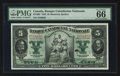 Canadian Currency: , Montreal, PQ- Banque Canadienne Nationale $5 Feb. 1, 1925 Ch85-10-02. ...