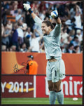 Miscellaneous Collectibles:General, Hope Solo Signed Oversized Photograph....