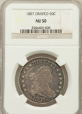 Early Half Dollars: , 1807 50C Draped Bust AU50 NGC. NGC Census: (41/987). PCGSPopulation (70/228). Mintage: 301,076. Numismedia Wsl. Price for...