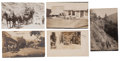 Western Expansion:Goldrush, Real Photo Postcards: Five Oregon Stagecoach Scenes.... (Total: 5Items)
