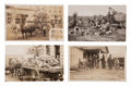 Western Expansion:Goldrush, Real Photo Postcards: Four Oklahoma Scenes.... (Total: 4 Items)