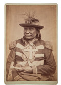 "Photography:Cabinet Photos, Albumen Cabinet Card: Apache Chief ""Yan-hah"" Photograph...."