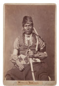 Photography:Cabinet Photos, Albumen Cabinet Card Photo: Howard Mandan by M. A. Breese & Co....