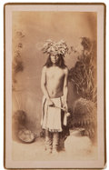 Photography:Cabinet Photos, Albumen Boudoir Photo: White Mountain Apache, ...