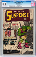 Silver Age (1956-1969):Science Fiction, Tales of Suspense #37 (Marvel, 1963) CGC VF+ 8.5 Off-white to whitepages....